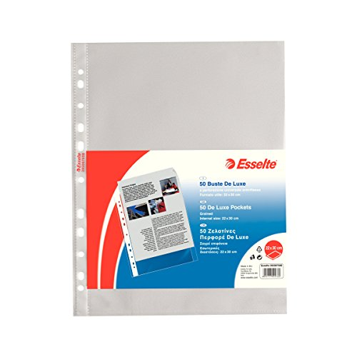 ESSELTE Buste perforate DELUXE - PPL antiriflesso - f.to 22 x 30 cm - 395097600
