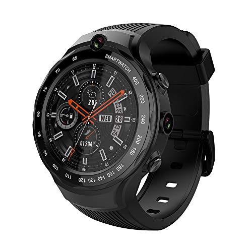 MROSW A8 Smart Watch Android Telefoon 5MP+5Mp Dual Camera Gps Kaarten Hartslag Smartwatch voor Ios Android Telefoon Google Play Store