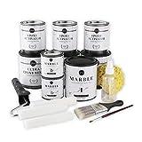 Giani Marble Easy Epoxy Countertop Kit, Carrara White