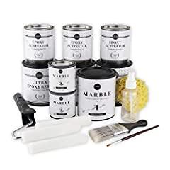 Giani Countertop Paint is a simple, three-step application that will transform Formica, laminate, Corian, ceramic tile, butcher block, cultured marble, and traditional granite in a single weekend. Each kit contains all necessary tools and covers 35 s...