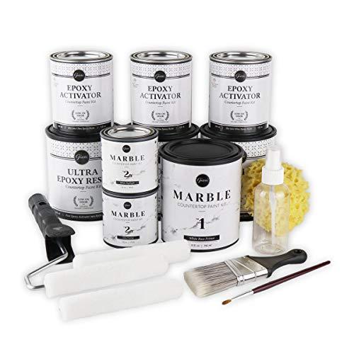 Giani Carrara White Marble Epoxy Countertop Kit