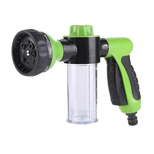 Amoyer Tragbare Auto-Schaum-Wasserpistole Hochdruck 8 Sprühbildern Jet-Auto-Waschmaschine Sprayer Reinigungswerkzeug Multifunktions-Schaumrohr (zufällige Farbe)