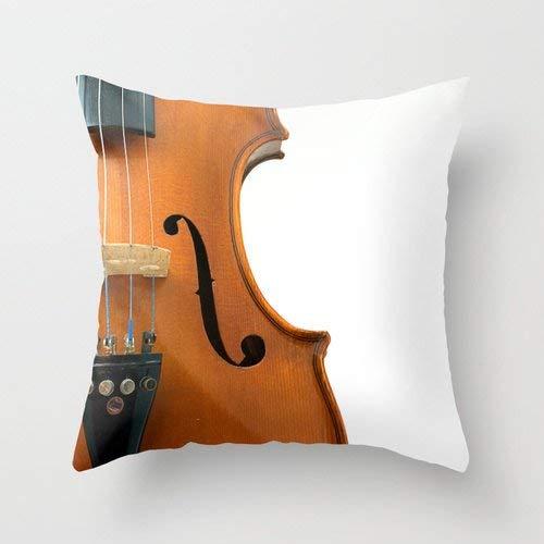 Toll2452 Funda de almohada para violín Instrumento de Música Cojín Regalo para Artistas Violinista Músico Cobre Hombre Decoración Cueva Estudio Viola Viola Violonchelo