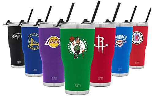 Simple Modern Boston Celtics 30oz Cruiser Tumbler with Straw and Closing Lid - NBA - 18/8 Stainless Steel Double Wall Vacuum Insulated Travel Mug Cup Mens Womens Gift