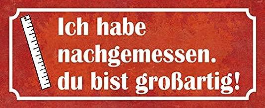INTERLUXE Holzschild ICH HAB NACHGEMESSEN *Großartig Shabby Spruch Dekoration