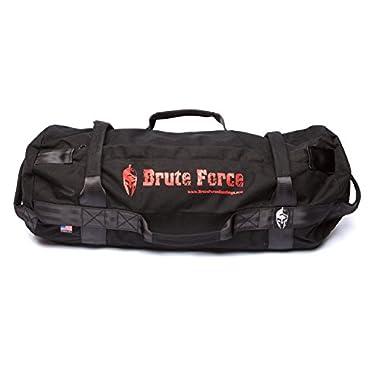 BRUTE FORCE Sandbags - Athlete Sandbag - Black - Heavy Duty Sandbags for Fitness Exercise Sandbags Military Sandbags Weighted Bags Heavy Sand Bags Weighted Home Gym