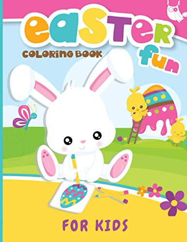 Easter Fun Coloring Book For Kids: 30 Fun and Easy Easter Coloring Pages   Easter Gift for Kids   Toddlers and Preschoolers, Easter coloring book for kids ages 2-5