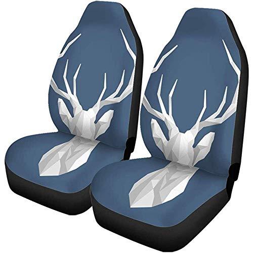 Beth-D stoelhoezen voor auto, rooster hert, polygonal, voor binnen, Scandinavische kop, polygone, 2-delige set