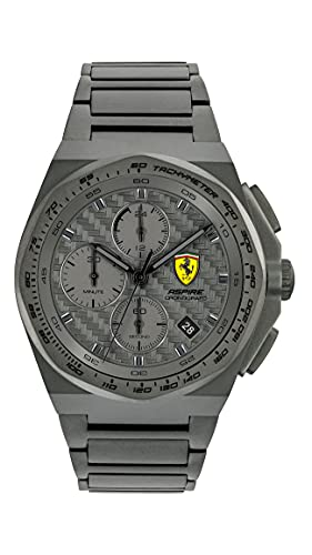 Ferrari Men's Quartz Watch with Stainless Steel Strap, Grey, 18 (Model: 0830795)