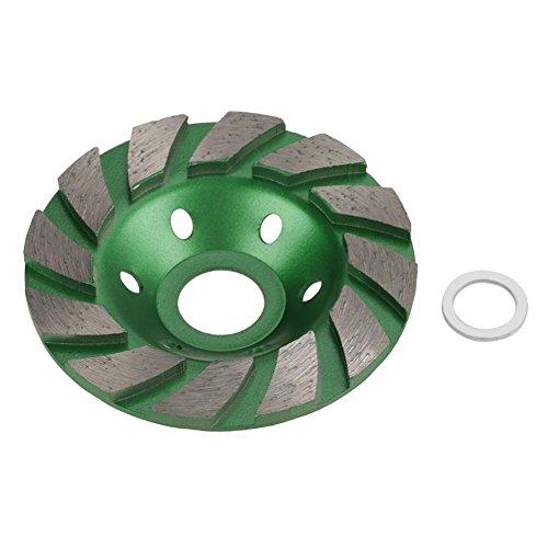 1 Stücke 100mm Diamant Segmentschleifscheibe Tasse Schleifscheibe für Granit Mauerwerk Stein Beton Keramik Polieren (grün)