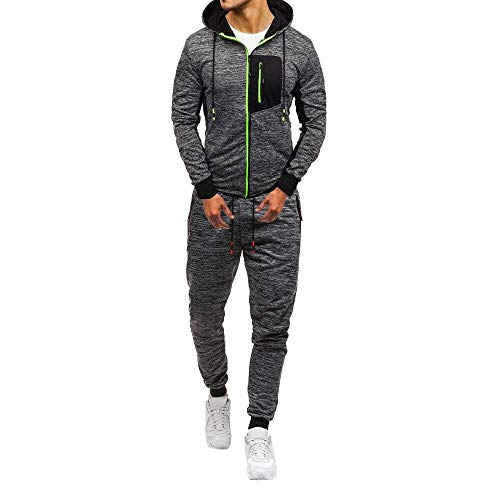 Adelina heren joggingpak trainingspak sweatshirt broek herfst en winter lange mouwen capuchon modieus Completi broekpak capuchon jas