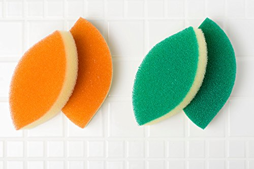 亀の子キッチンスポンジDo木の葉薄型2個入グリーン2個セット22192362