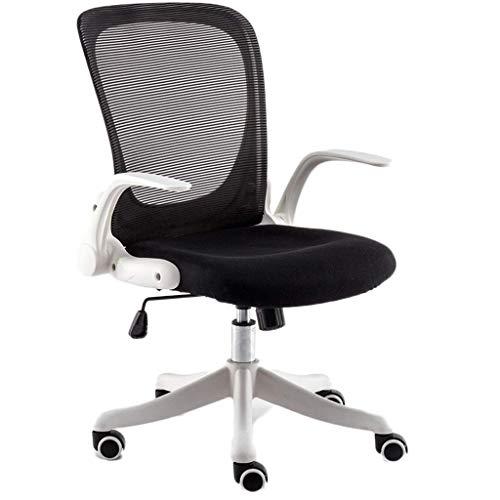 HYAN Bürostühle Bürostuhl Bürostuhl Flip-up Armlehne Compact etwa 90 Grad Sperre 360 Grad Rotation Sitz Schreibtischstuhl (Color : B)