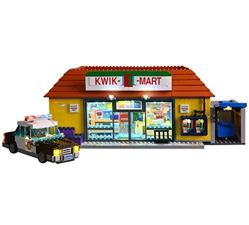 QZPM Conjunto De Luces (Simpsons The Kwik-E-Mart) Modelo De Construcción De Bloques, Kit De Luz LED Compatible con Lego 71016(NO Incluido En El Modelo)