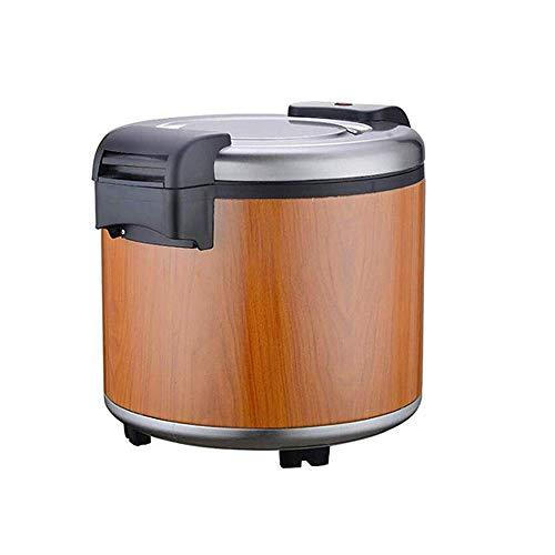 Rijstkoker grote capaciteit 23L, commerciële elektrische warmte behoud emmer, non-stick pan, automatisch koken, Laat Rice 220-240V (hout kleur)