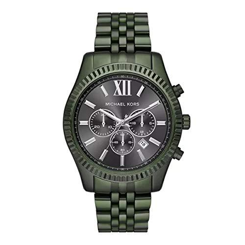 Michael Kors Herren Analog Quarz Uhr mit Edelstahl Armband MK8604