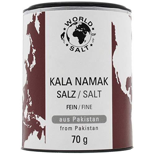 Pepperworld Kala Namak Salz, feines Schwarz-Salz aus Pakistan, Speise-Salz mit extravagantem Geschmack, indisches Küchen-Gewürz, 70 g