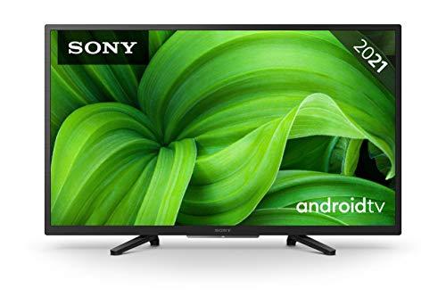 Sony KD-32W800 BRAVIA Fernseher (Android TV, 2K HD, High Dynamic Range (HDR), Smart TV, 2021 Modell), Schwarz, 80 cm (32')
