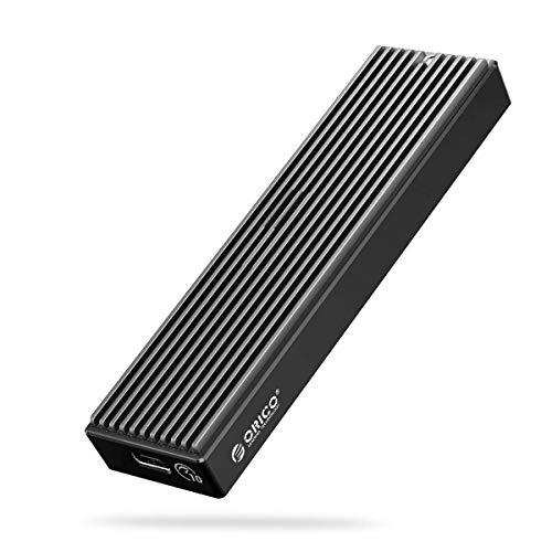 ORICO Carcasa SSD M.2 NVMe PCIe Adaptador Externo USB C USB 3.1 Gen2 10Gpbs para M.2 SSD 2230/2242/2260/2280 M-Key/B+M Key , Cajas para discos duros con UASP, con Cable USB A a USB C-M2PV(2021)