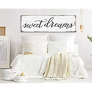 Ced454sy Gift 15x50cm Sweet Dreams Bedroom Sign Canvas Sign Farmhouse Decor Inspirational Wall Art Bedroom Wall Custom Colors Wall Decor Sign For Above Bed Rustic Amazon Co Uk Garden Outdoors