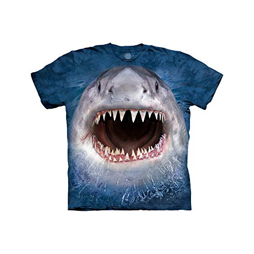 The Mountain Kids' Wicked Nasty Shark Tee T-Shirt, Blue, L