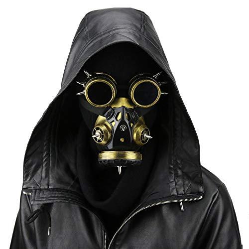 LUCKME Máscara de Gas Steampunk, Gafas Retro Cortavientos Gothic Cybe