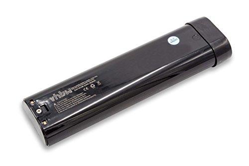 vhbw NiMH Batería 3000mAh (9.6V) para su herramienta electrónica Makita 6094D, 6094DW, 6095D, 6095DQ, 6095DW, 6095DWBE por 191681-2, 192533-0