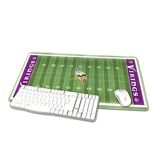"TRIPRO NFL Football Field Design Large Gaming Mouse Pad XXL Extended Mat Desk Pad Mousepad,Size 23.6""x11.8"",Water-Resistant,Non-Slip Base,for NBA Fans Gifts (Minnesota Vikings)"