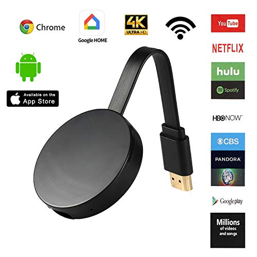 Wireless Display Dongle 4K WiFi 1080P HDMI Digital TV Adapter and Streaming Receiver Support DLNA Airplay Miracast Chrome cast Mirror for Laptop iPhone Smartphones Mac to TV Monitor Projector PC
