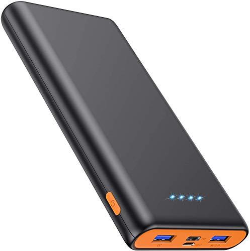 Pxwaxpy Power Bank 26800mAh, Powerbank USB C Schnellladung 18W [Power Delivery & QC 3.0] Schnellladefunktion 3-Ausgang & 2-Eingang Type-C Externer Akku Leistungsstark für iPhone Samsung Huawei iPad
