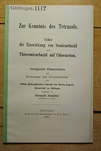Ueber die Einwirkung von Semicarbazid und Thiosemicarbazid auf Chloraceton.