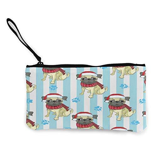 Moneda de lona, bolso de tela con cremallera, bolsa de cosméticos de viaje multifunción, bolsa de maquillaje, bolsa de teléfono móvil, bolsa de lápiz con asa