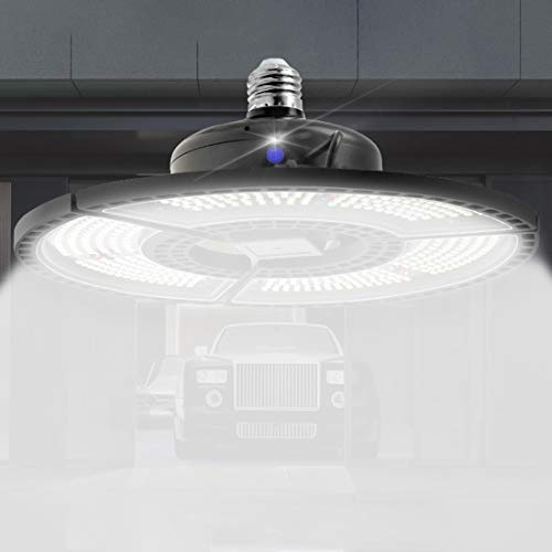 LED Garage Lights, vervormbare LED plafond verlichting, 7200 LM, CRI 80, Led Shop Lights voor garage, Garage Lights met 3 verstelbare Panels, Led Garage Verlichting Werkplaats Light,100w