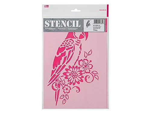 Schablone/Stencils Papagei DIN A4 von Efco - 1-teilig