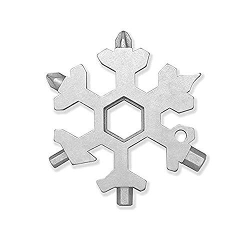 18-in-1 fiocco di neve multi strumento in acciaio inox portatile multi-strumento per viaggi all'aperto campeggio avventura strumento quotidiano per appassionati militari