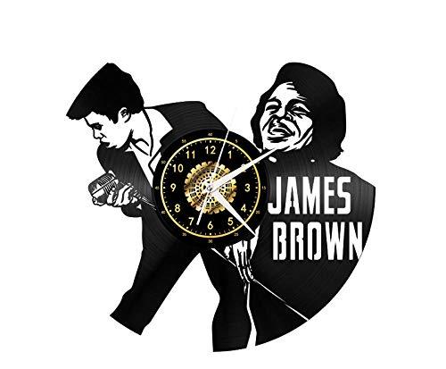 Chanteur James Brown Vinyle Record Horloge Murale Led Lumineux Commémorer Art Fait Main Chambre Décor Avec Led Lumière 12 Pouce