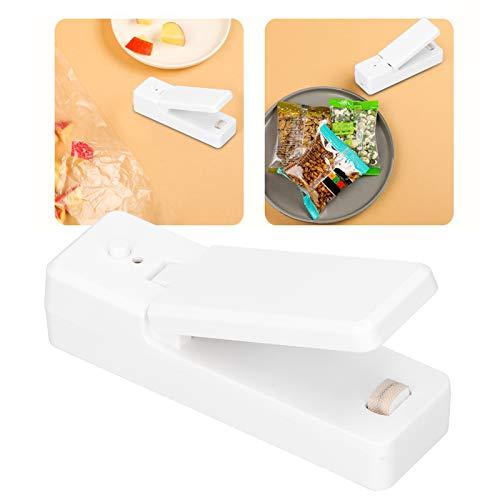 Sellador de Bolsas de Alimentos, sellador de Alimentos Blanco portátil de Carga USB, Mini para Viajes a casa