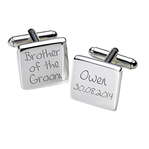 Brother of the Groom boutons de manchette – Carré