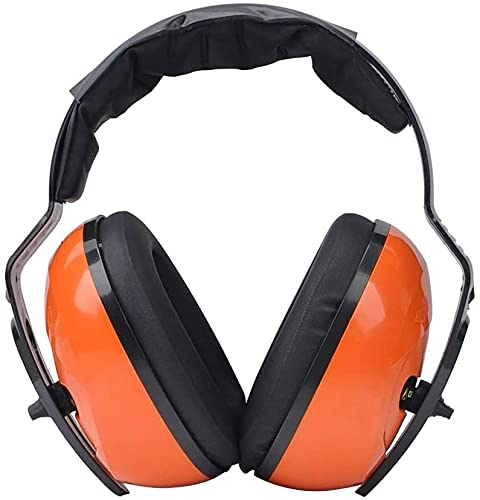 GXT Professional Soundproof Earmuffs Sleep Noise Prevention Sleep Ear Protectors With Factory Learning Noise Reduction Noise reduction (Color : Orange, Size : One Size)