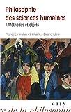 Philosophie des sciences humaines - Volume 2, Méthodes et concepts