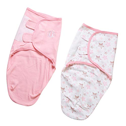 Sharplace 2 Piezas Bebé Niño Swaddle Swaddle Saco de Dormir Swaddle Manta Mameluco Saco Sacos de Dormir para Bebés Hechos de 100% Algodón - Star Moon, M