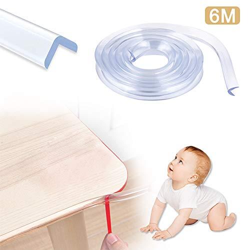 Kantenschutz Transparent, Kantenschutz Baby Transparent - (6m / 20 Fuß) Baby Sicherheit, Transparent Extra Breiter Dicker, Mit Doppelseitigem Klebeband, Geeignet für Schränke, Tische, Schubladen