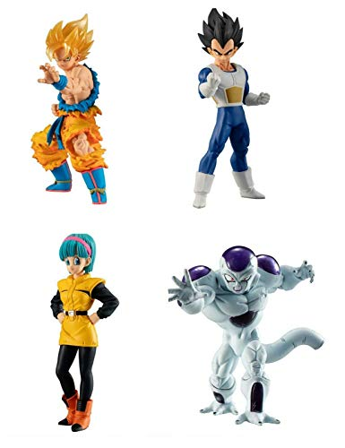 Dragon Dragonball Komplett-Set 4 Figuren 9cm Collection Freezer ARC High Grade Serie 03 Freeza HG 03 Bandai Gashapon Goku Vegeta Bulma Freezer