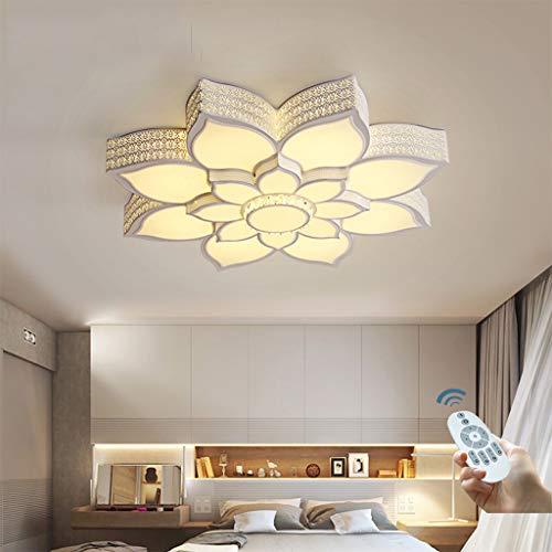 LED Deckenlampe Moderne Deckenleuchte Blütenform Deckenlicht Kristall Kronleuchter Acryl Lampenschirm Wohnzimmer Schlafzimmer Dining Bar Café Innen Licht,Dimming,75cm/48W