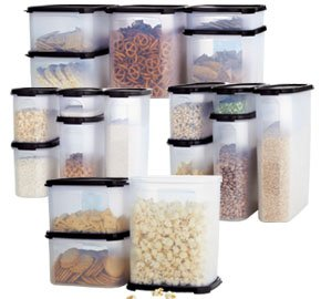 TUPPERWARE MODULAR MATES MEGA SET BLACK SEALS ONLY