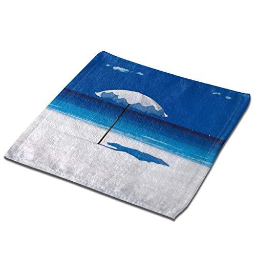 Leo-shop Tropical Paradise Beach Clear Sky Ocean Essuie-Mains Ultra Doux Absorbant Bain De Bain Cuisine Plat Serviettes Gant de Toilette