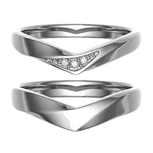 [ココカル]cococaru ペアリング 結婚指輪 K18ゴールド 2本セット マリッジリング ダイヤモンド 日本製(レディースサイズ3号 メンズサイズ10号)