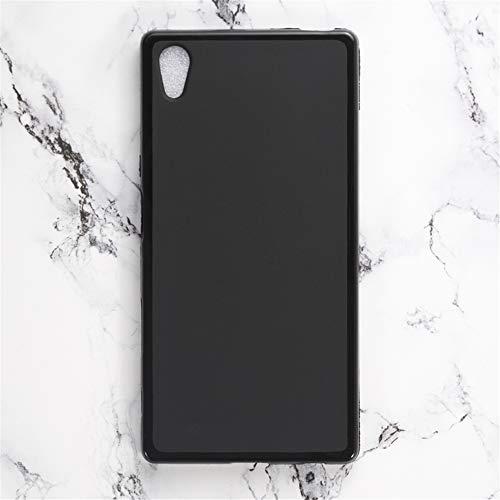 Capa para Sony Xperia Z5, capa traseira de TPU macia resistente a arranhões à prova de choque de borracha de gel de silicone anti-impressões digitais Capa protetora de corpo inteiro para Sony Xperia Z5 (preta)