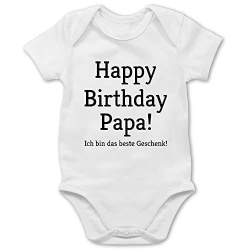 Anlässe Baby - Happy Birthday Papa 1/3 Monate - Weiß - Baby Body Happy Birthday Papa - BZ10 - Baby Body Kurzarm für Jungen und Mädchen