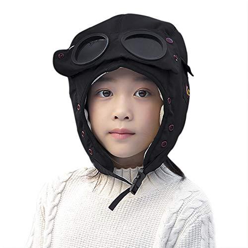 Clobeau Toddlers Kids Trapper Hats Bomber Earflap Winter Trooper Caps Ski Snowboard Hat